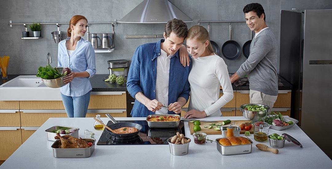 boite rectangulaire inox repas cuisine