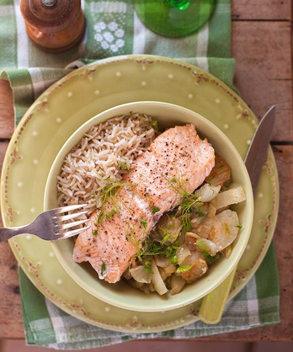 recette saumon sauteuse inox