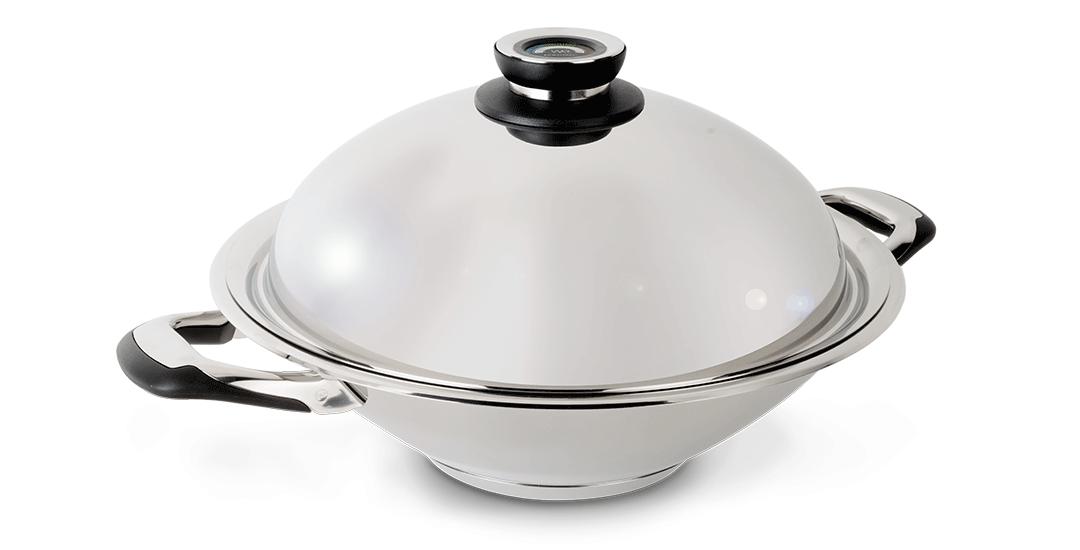 wok en inox